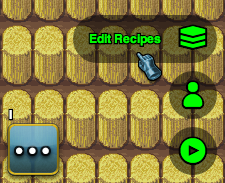 The Crafting Recipe Editor Button