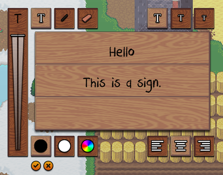 Text Editing in the Sign Editor