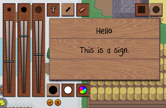 The Draw / Erase Option in the Sign Editor