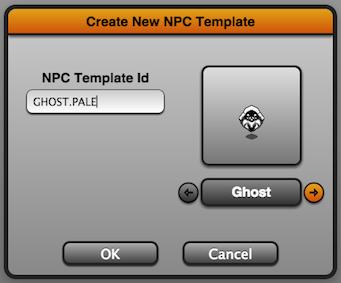 The NPC Template Creator Dialog