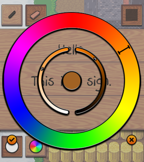 The Sign Editor's Color Selector